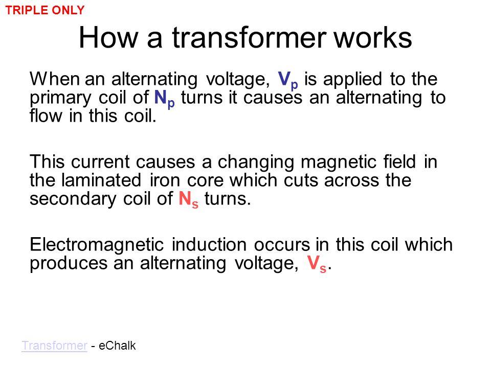 How a transformer works
