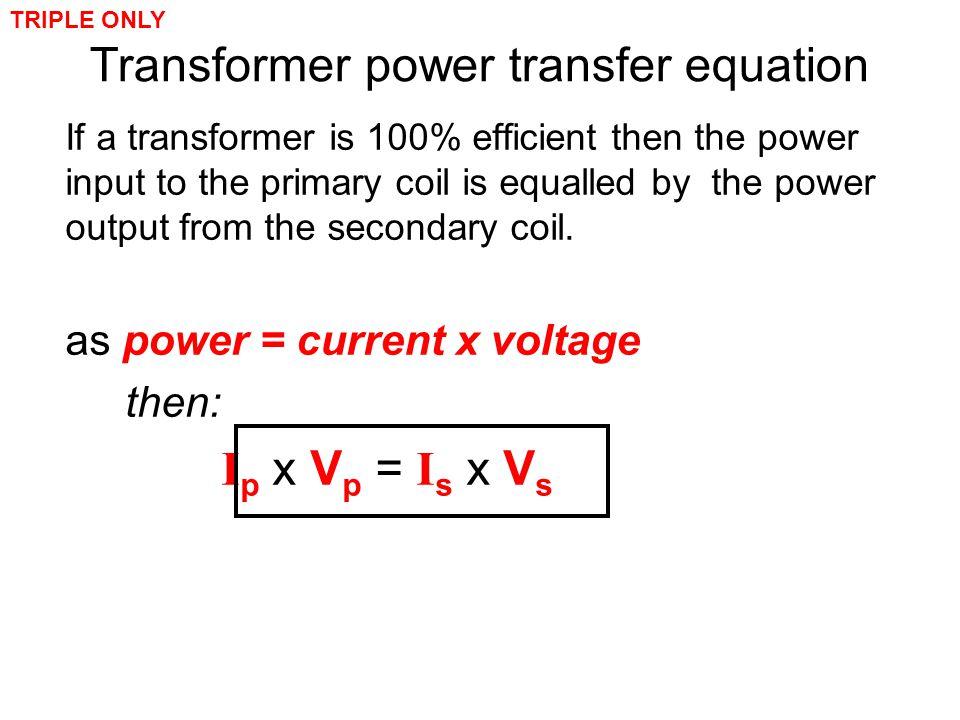 Transformer power transfer equation