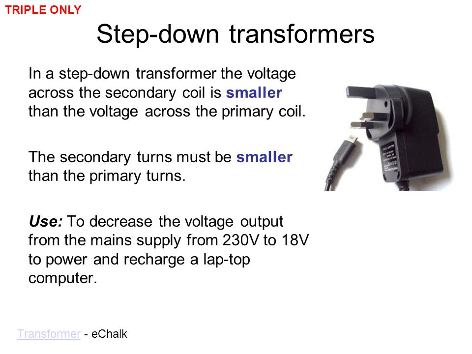 Step-down transformers