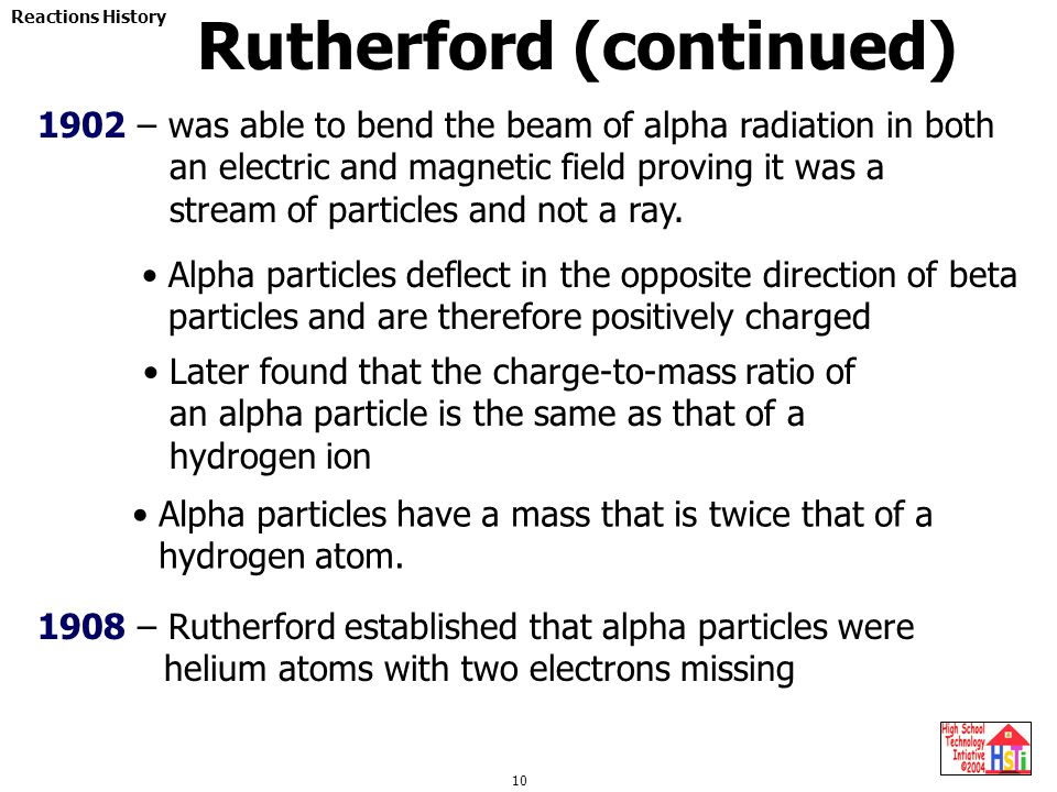 Rutherford (continued)