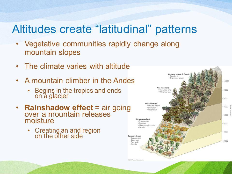Altitudes create latitudinal patterns