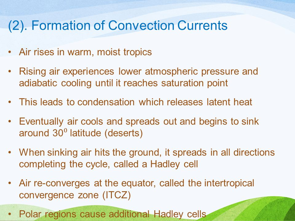 (2). Formation of Convection Currents