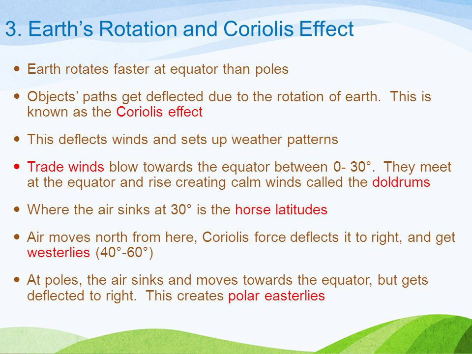 3. Earth's Rotation and Coriolis Effect