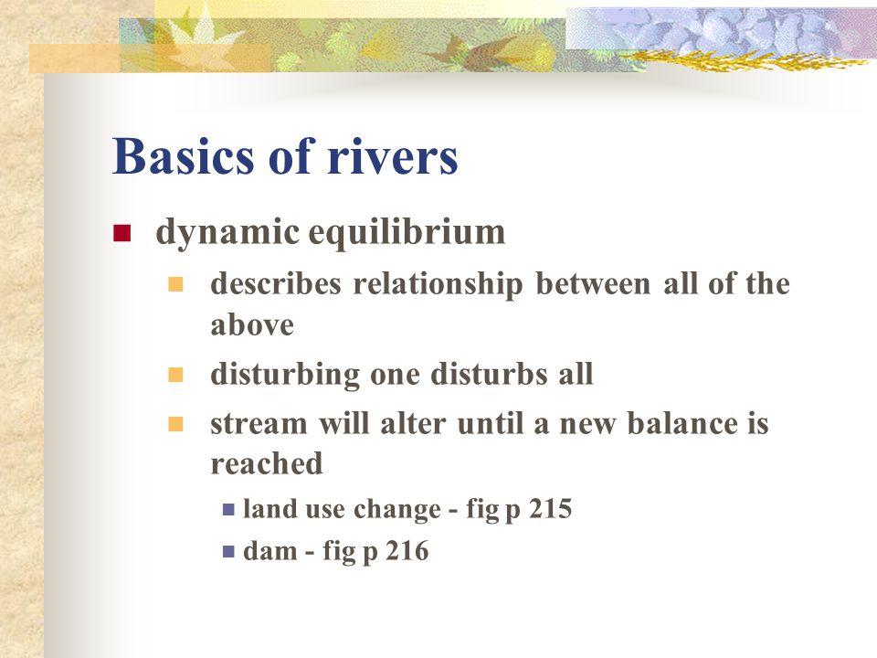 Basics of rivers dynamic equilibrium