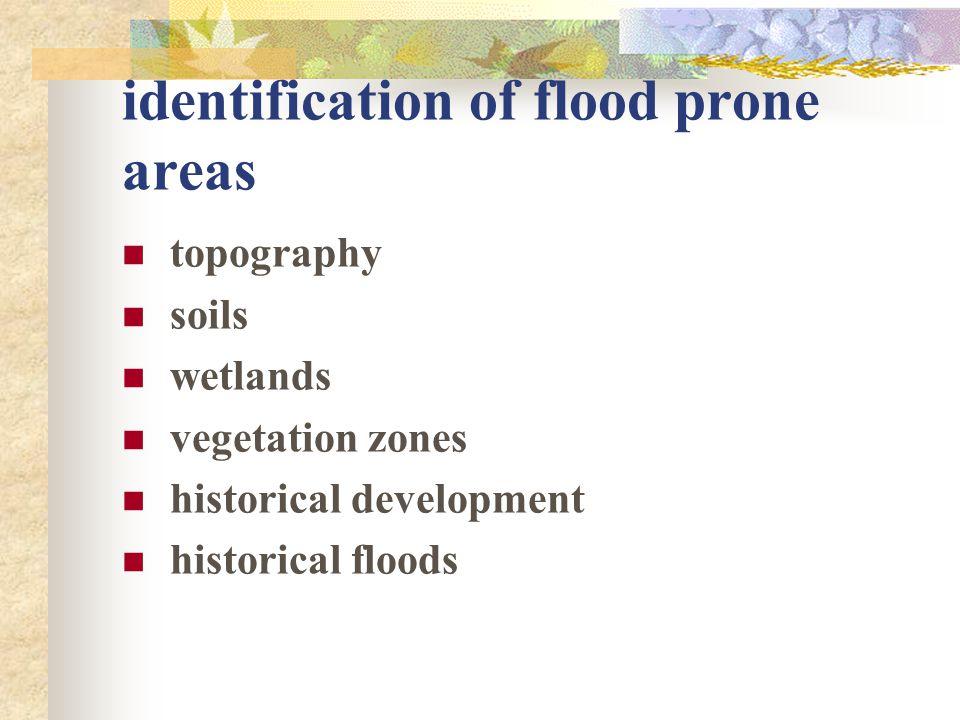 identification of flood prone areas