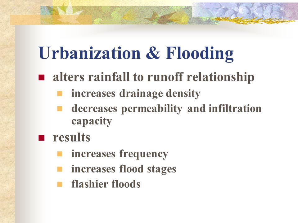 Urbanization & Flooding