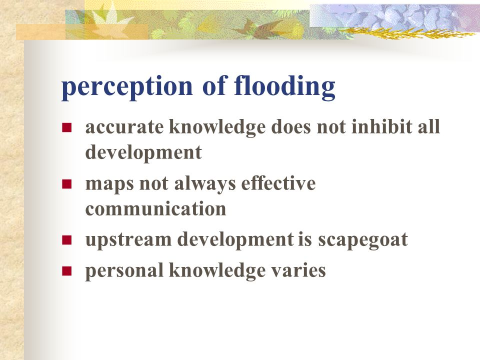 perception of flooding