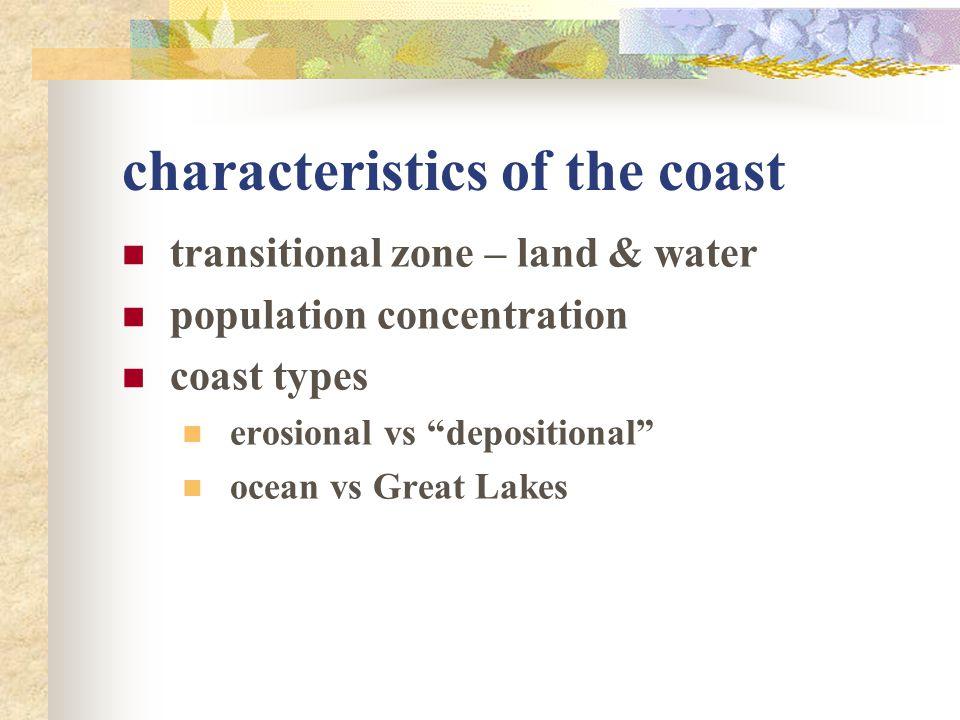 characteristics of the coast