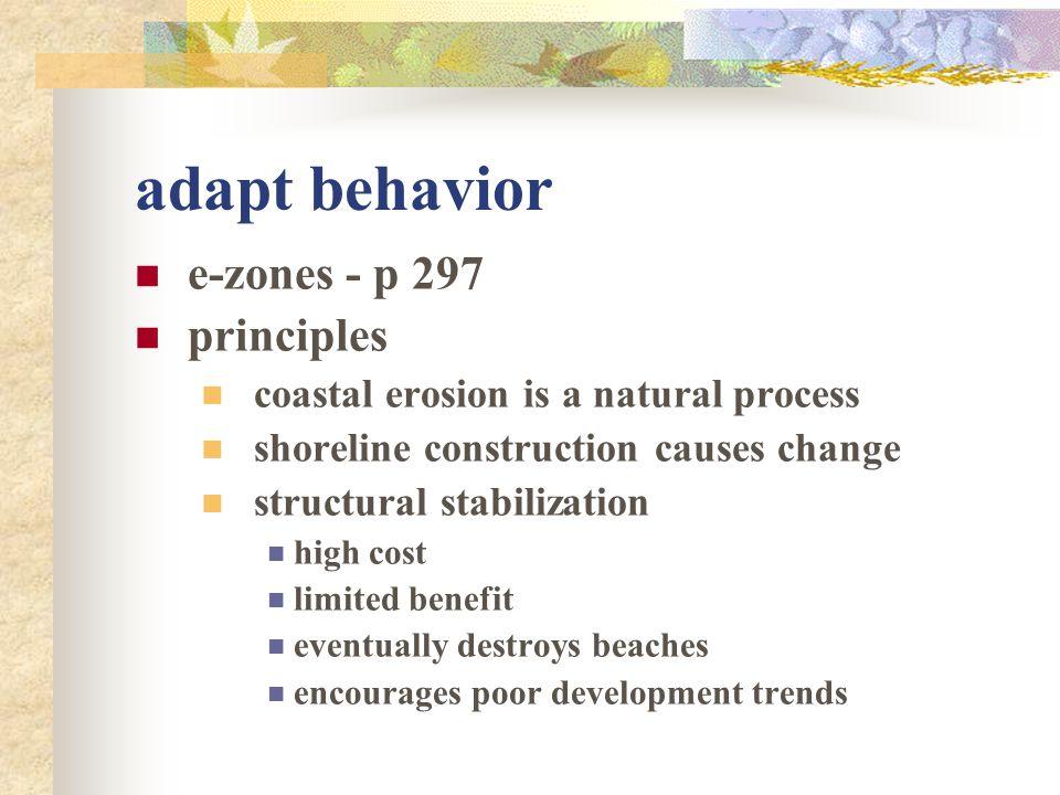 adapt behavior e-zones - p 297 principles
