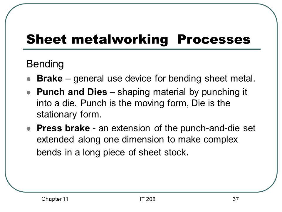 Sheet metalworking Processes