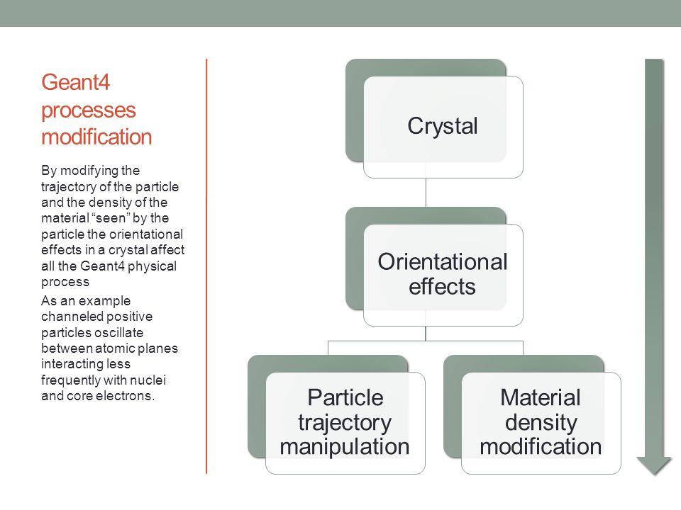 Geant4 processes modification