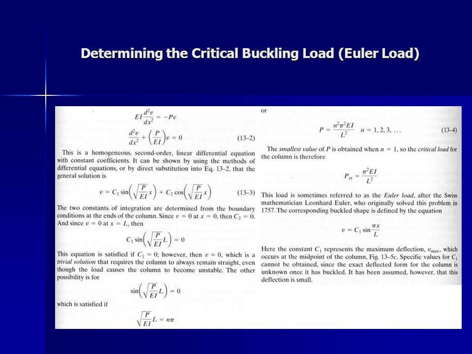 Determining the Critical Buckling Load (Euler Load)