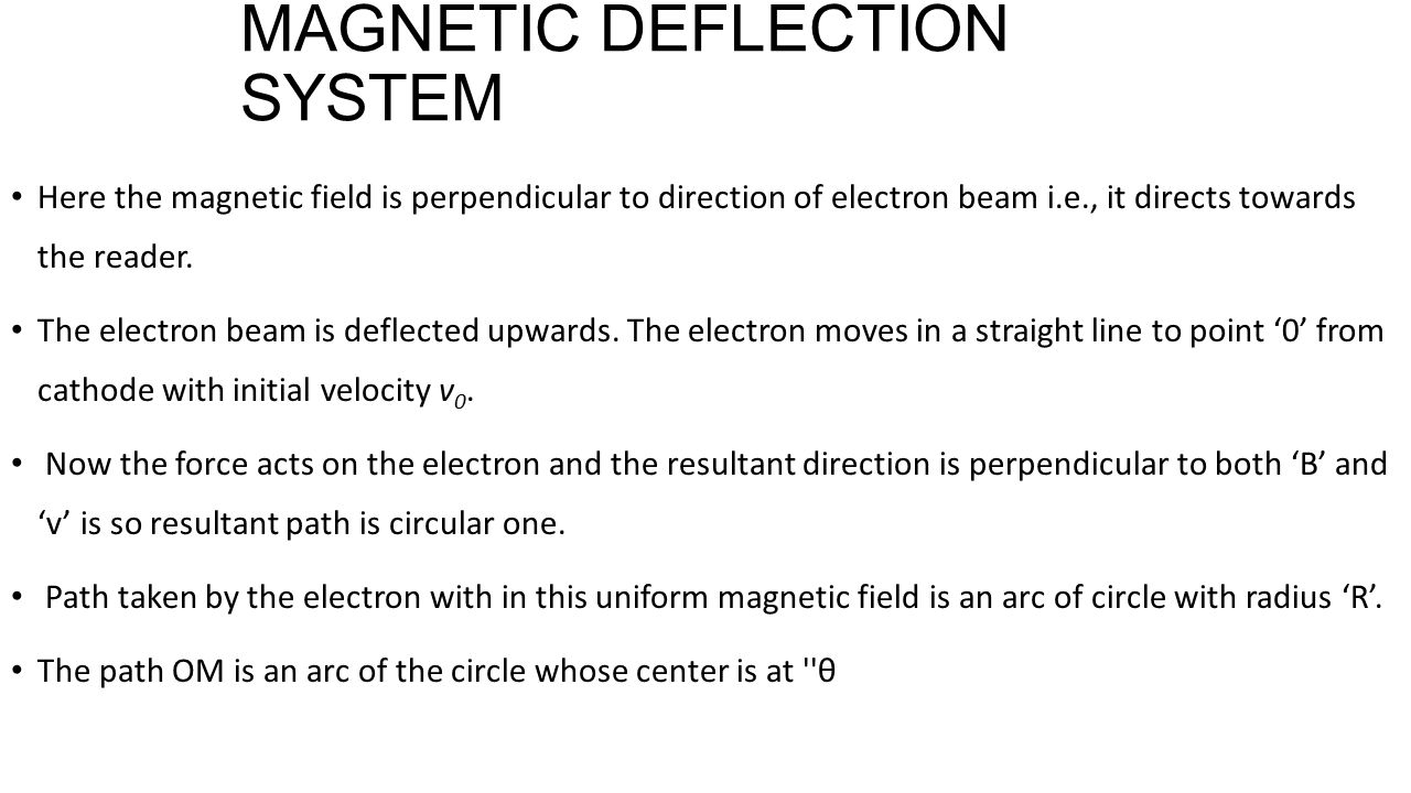MAGNETIC DEFLECTION SYSTEM