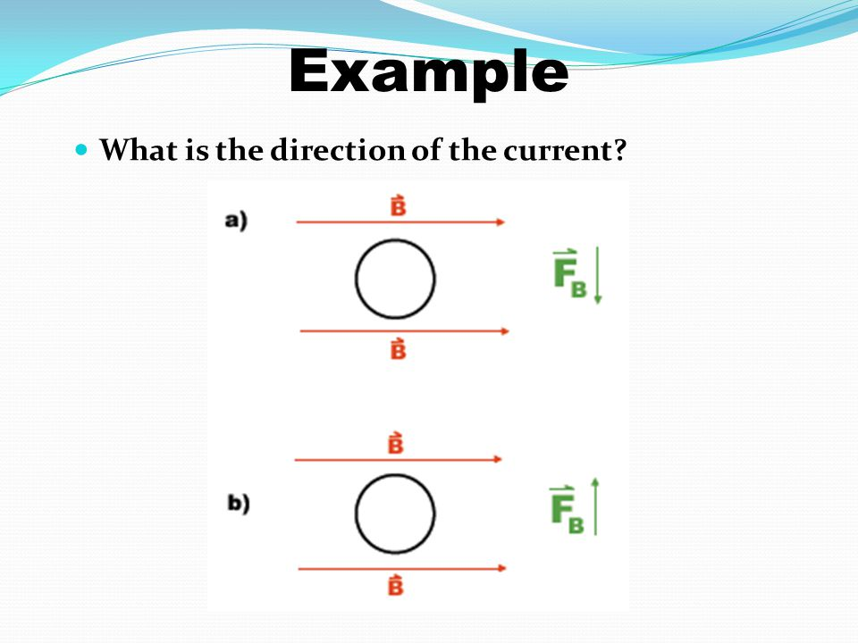 Example What is the direction of the current