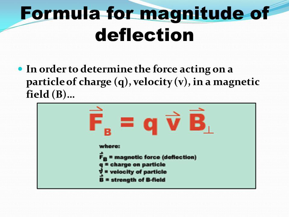 Formula for magnitude of deflection