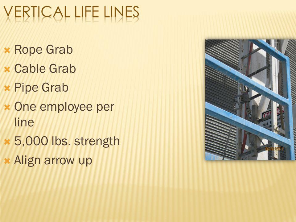 Vertical Life Lines Rope Grab Cable Grab Pipe Grab