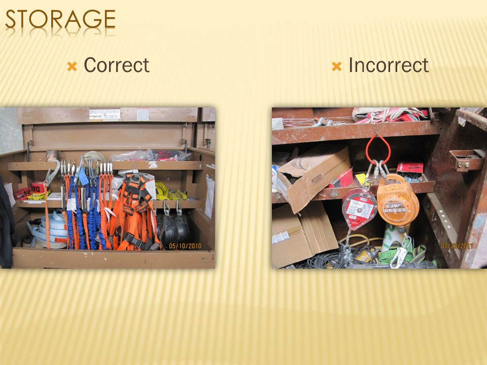 Storage Correct Incorrect