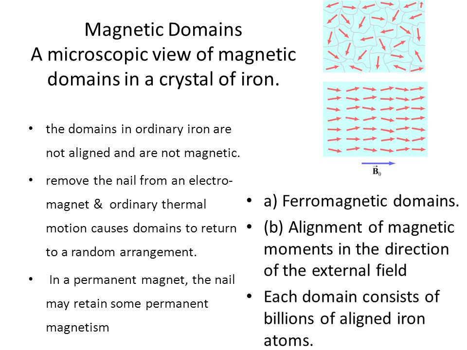 Magnetic Domains A microscopic view of magnetic domains in a crystal of iron.