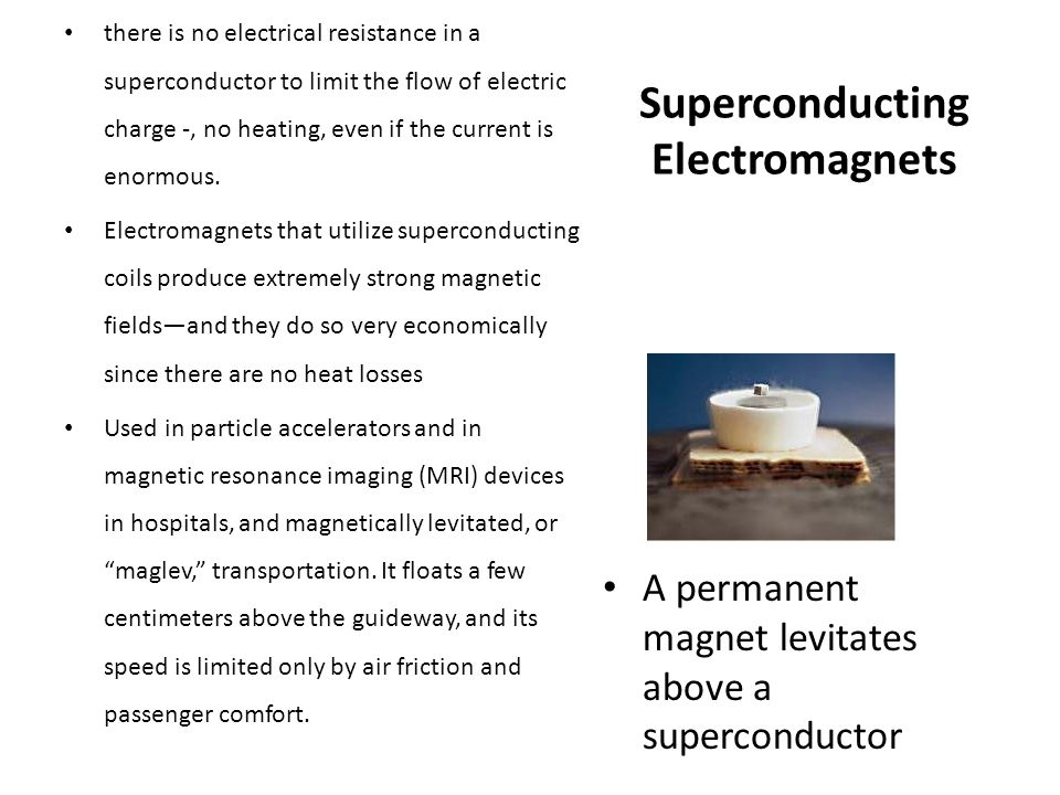 Superconducting Electromagnets