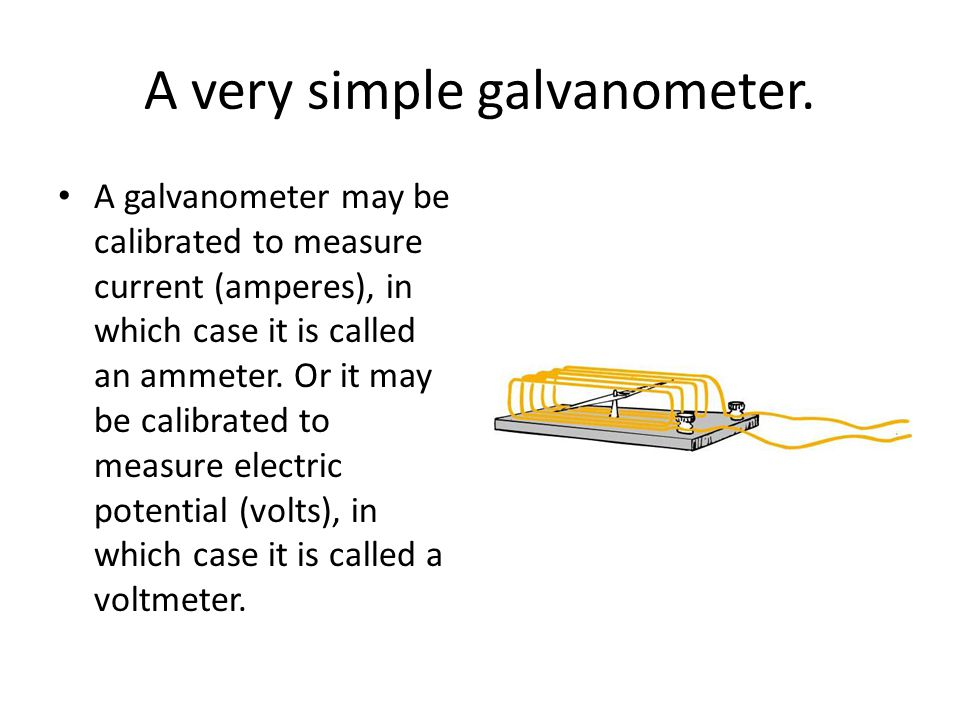 A very simple galvanometer.