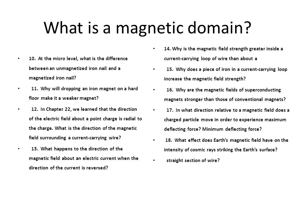 What is a magnetic domain
