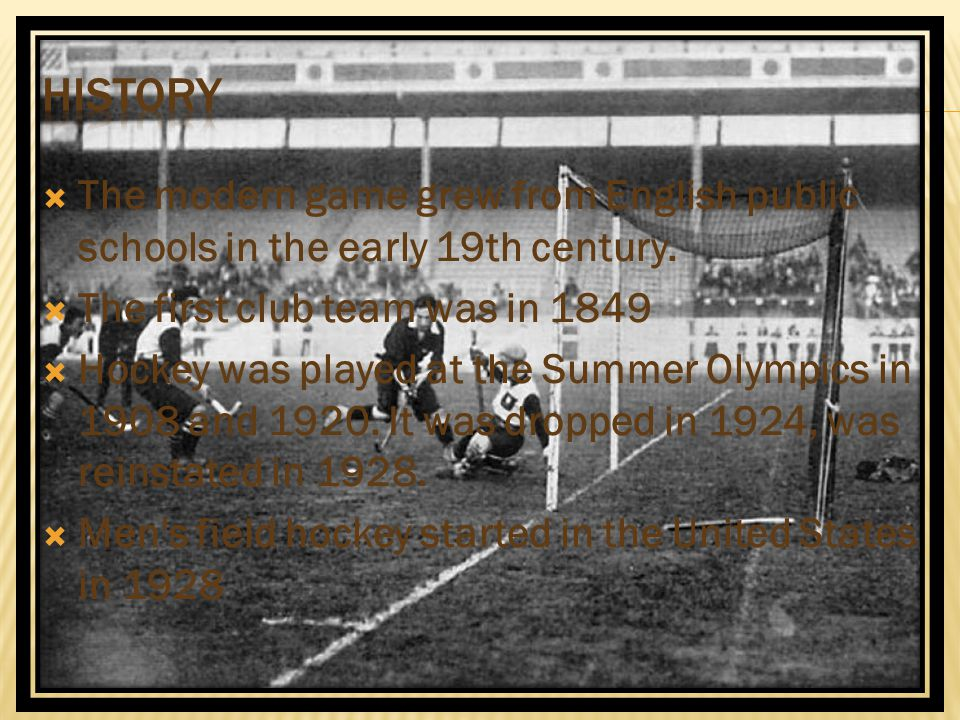 History The modern game grew from English public schools in the early 19th century. The first club team was in 1849.