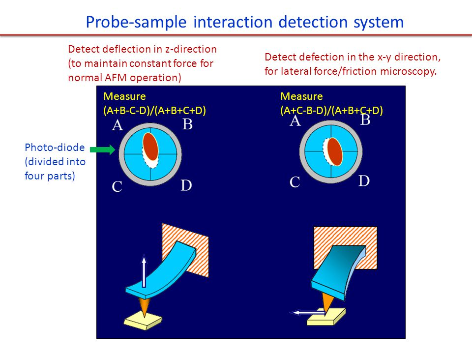 Probe-sample interaction detection system