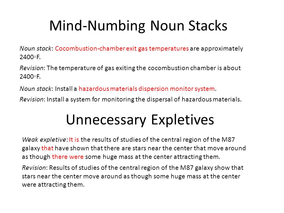 Mind-Numbing Noun Stacks
