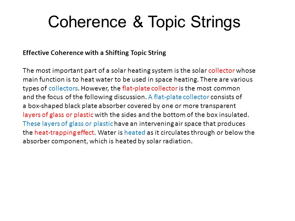 Coherence & Topic Strings
