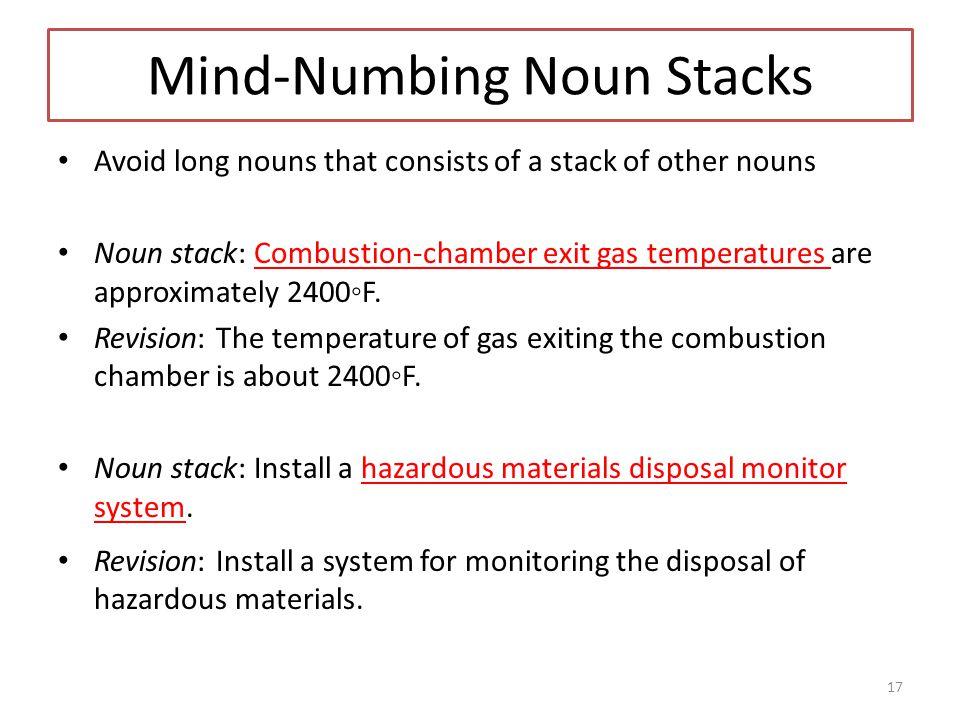 Mind-Numbing Noun Stacks