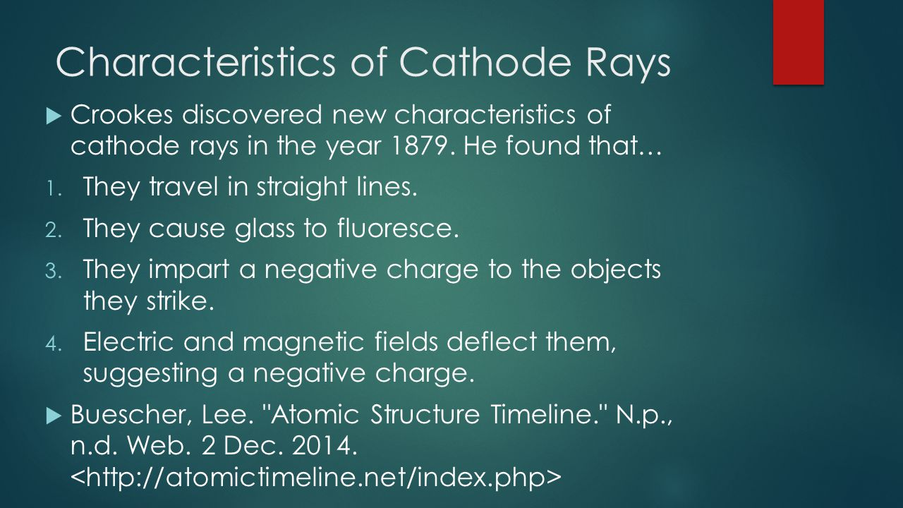 Characteristics of Cathode Rays