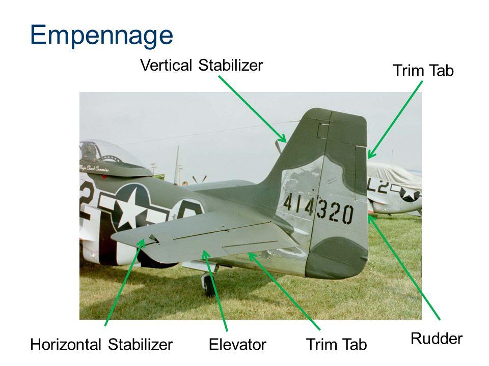 Empennage Vertical Stabilizer Trim Tab Rudder Horizontal Stabilizer