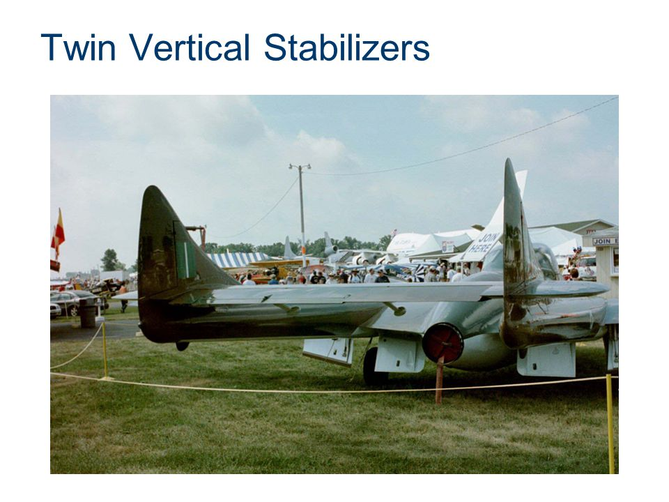 Twin Vertical Stabilizers