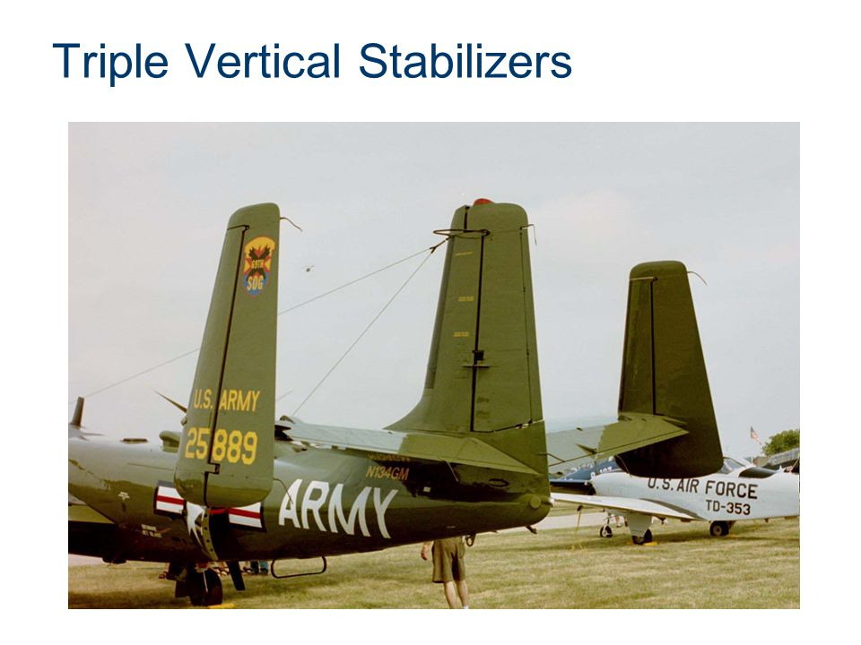 Triple Vertical Stabilizers