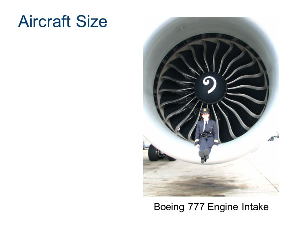 Aircraft Size Boeing 777 Engine Intake Presentation Name Course Name