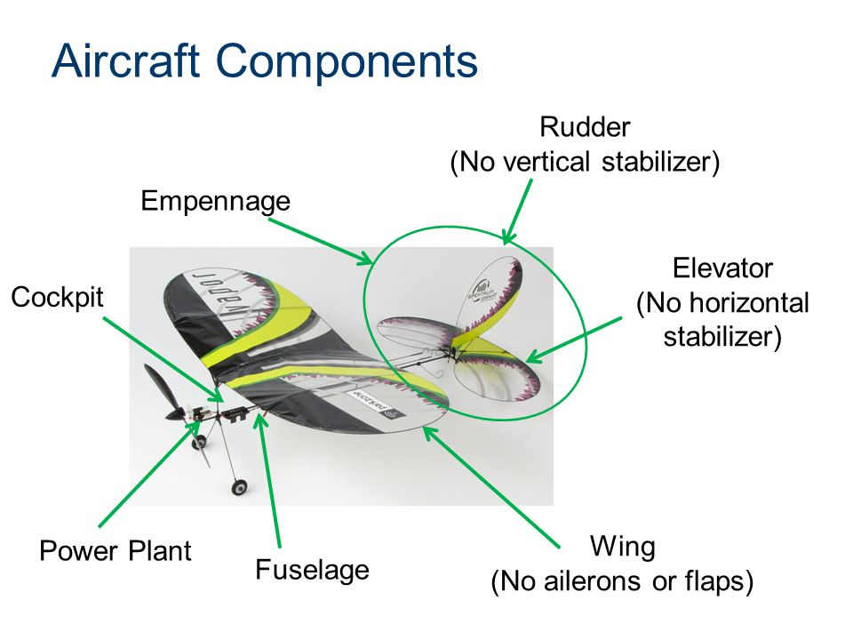 Aircraft Components Rudder (No vertical stabilizer) Empennage Elevator