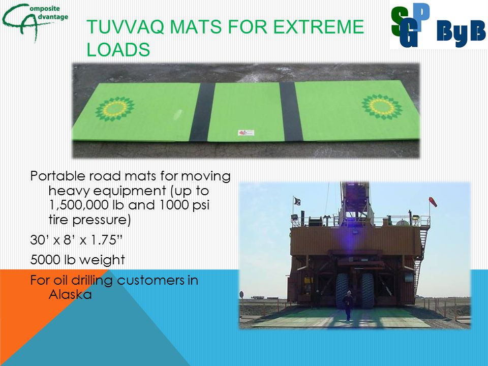 TUVVAQ Mats for Extreme Loads
