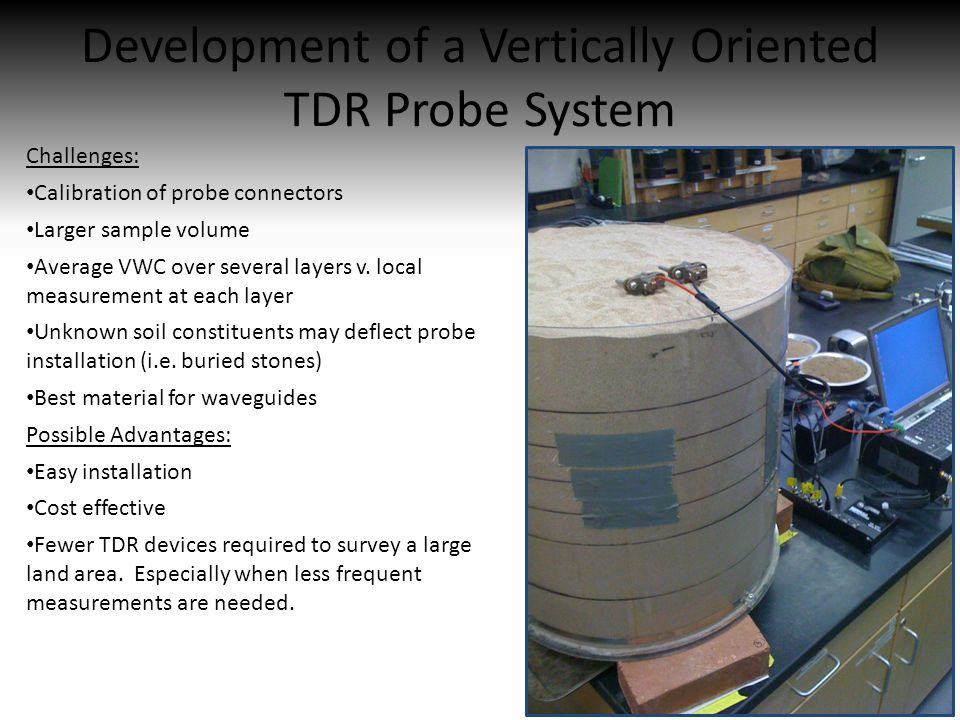 Development of a Vertically Oriented TDR Probe System