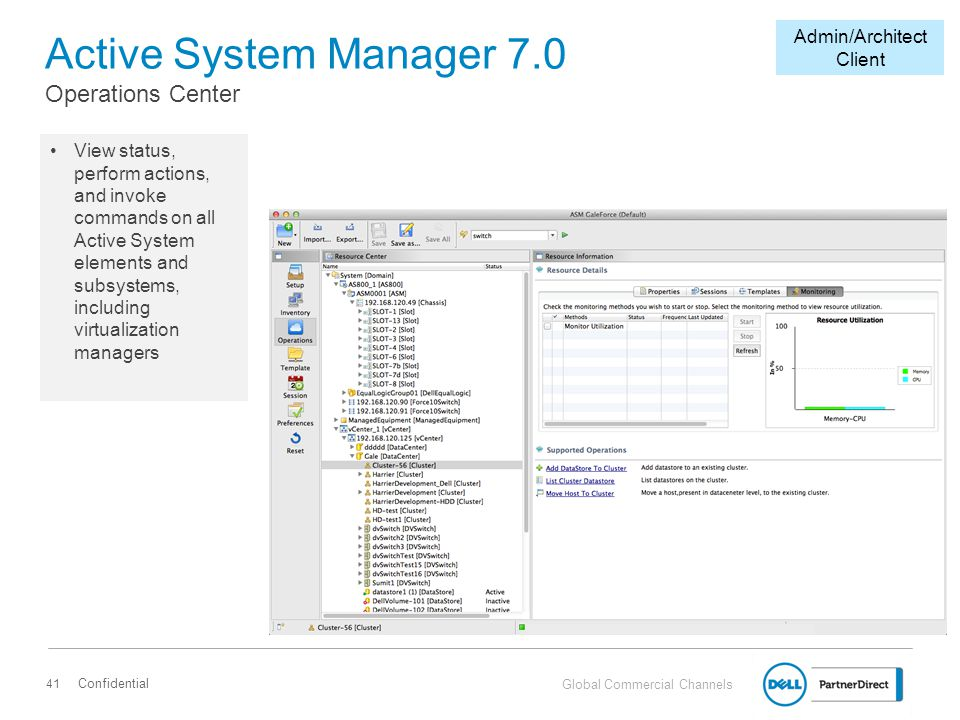 Active System Manager 7.0 Operations Center
