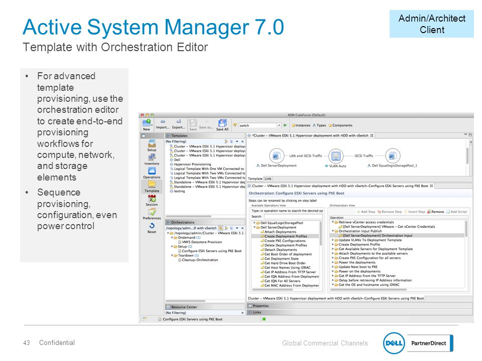 Active System Manager 7.0 Template with Orchestration Editor