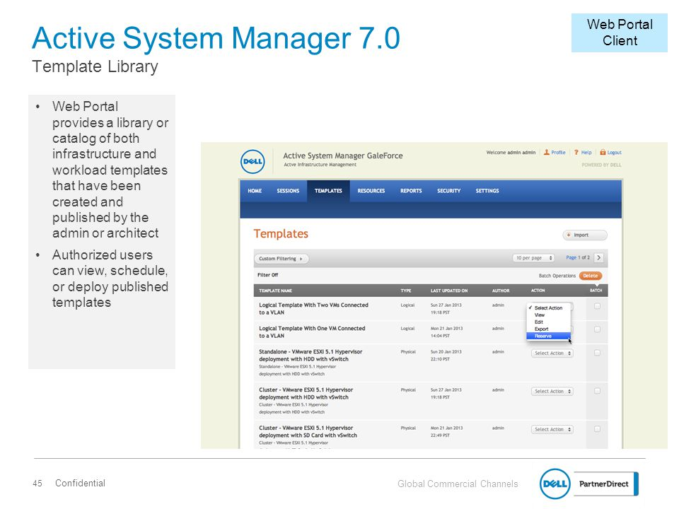 Active System Manager 7.0 Template Library