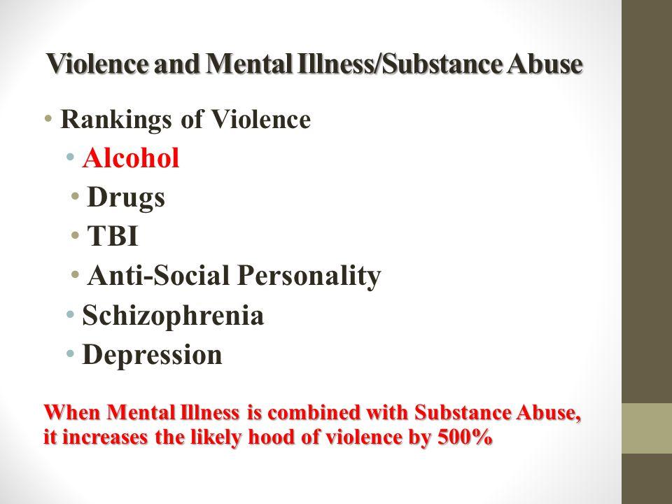 Violence and Mental Illness/Substance Abuse
