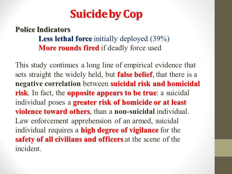 Suicide by Cop Police Indicators