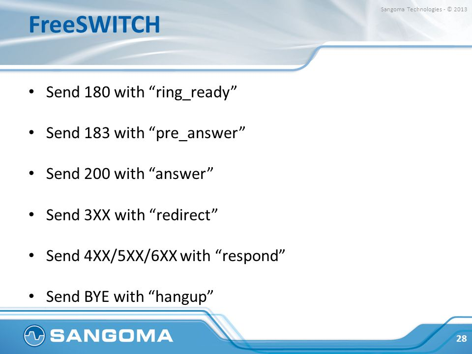 FreeSWITCH Send 180 with ring_ready Send 183 with pre_answer