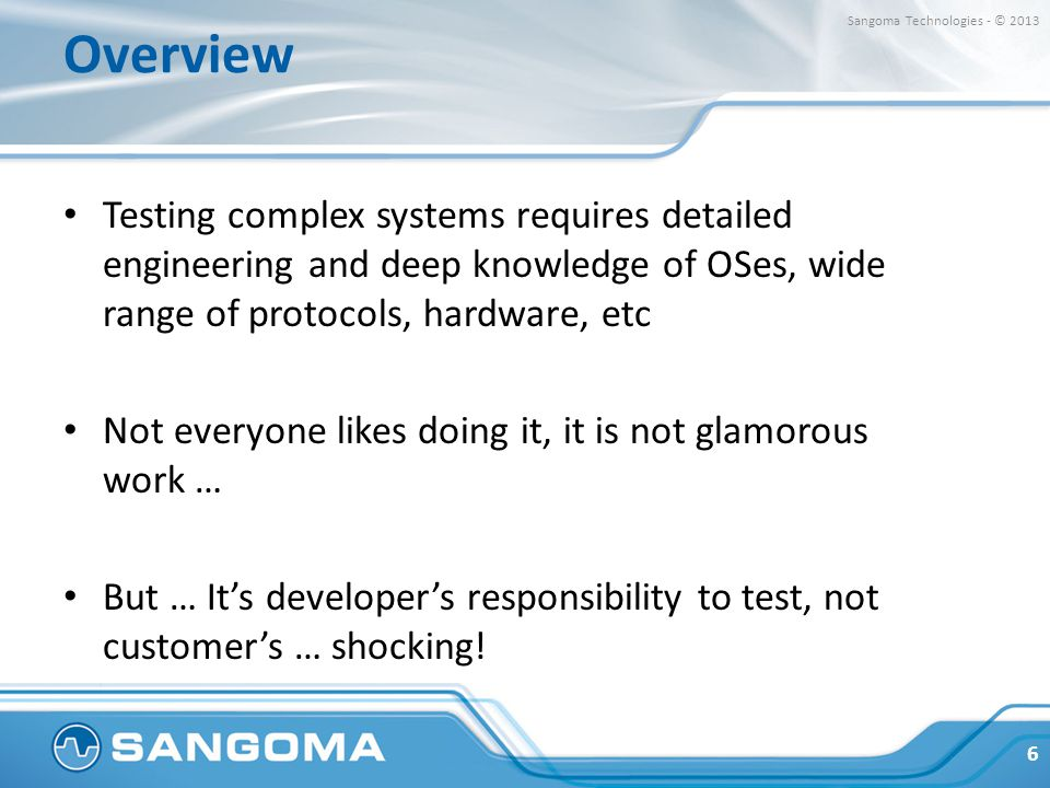 Overview Sangoma Technologies - © 2013.