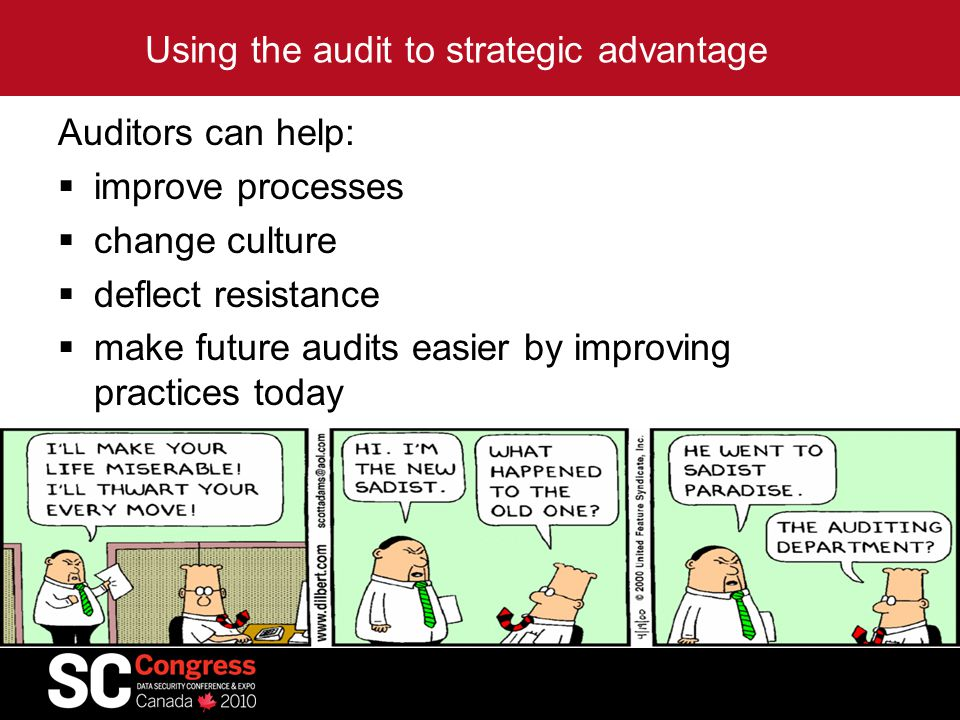 Using the audit to strategic advantage