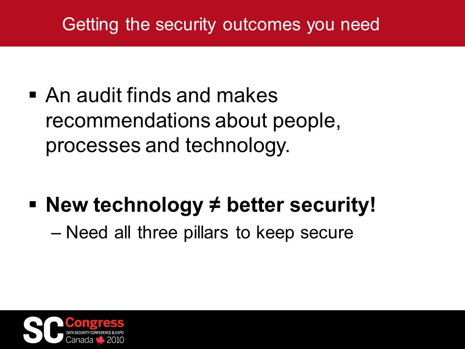 Getting the security outcomes you need