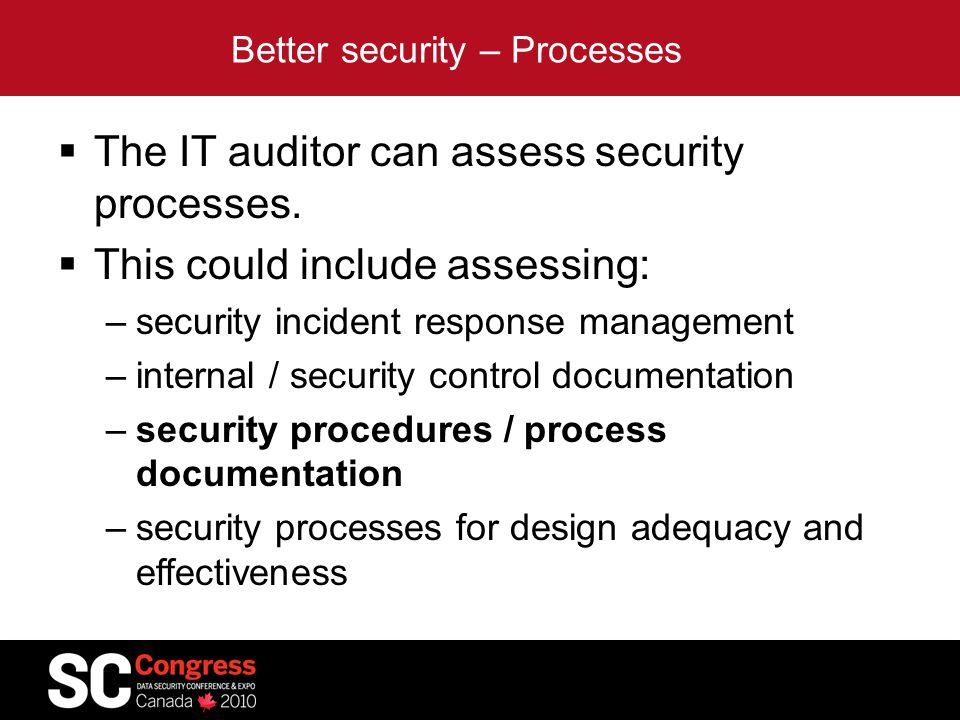 Better security – Processes