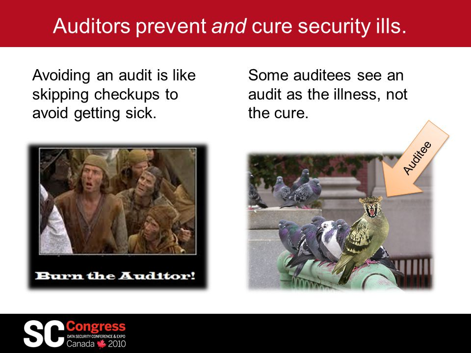 Auditors prevent and cure security ills.