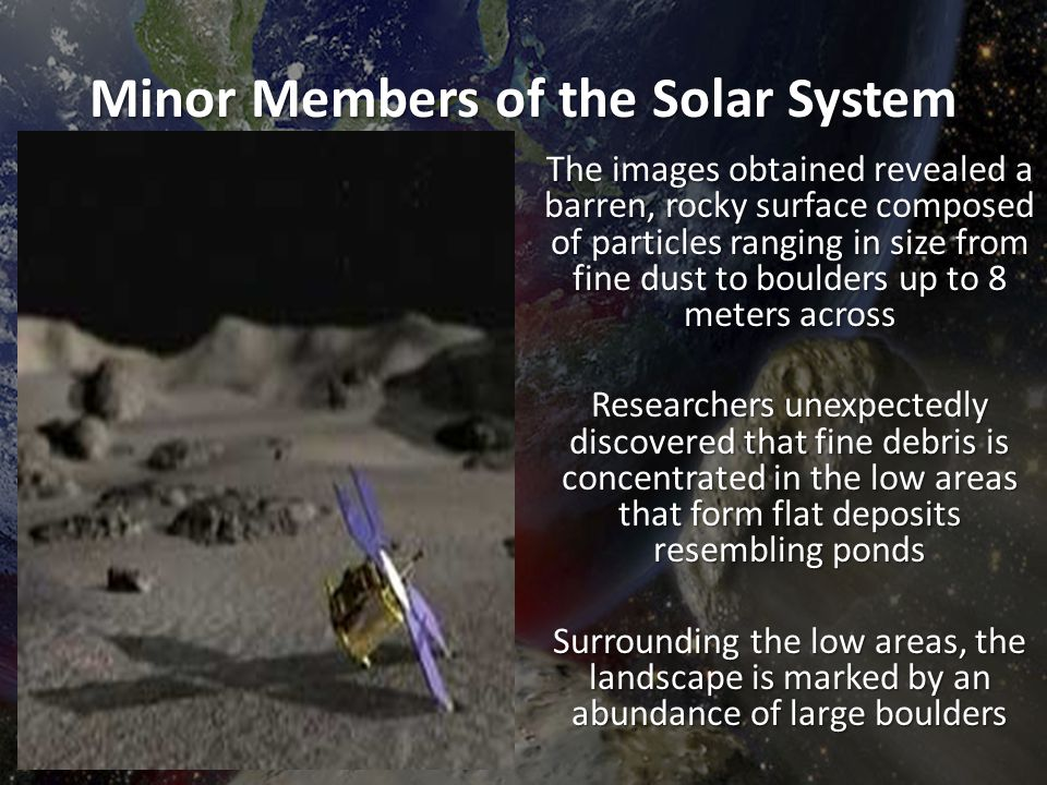 Minor Members of the Solar System